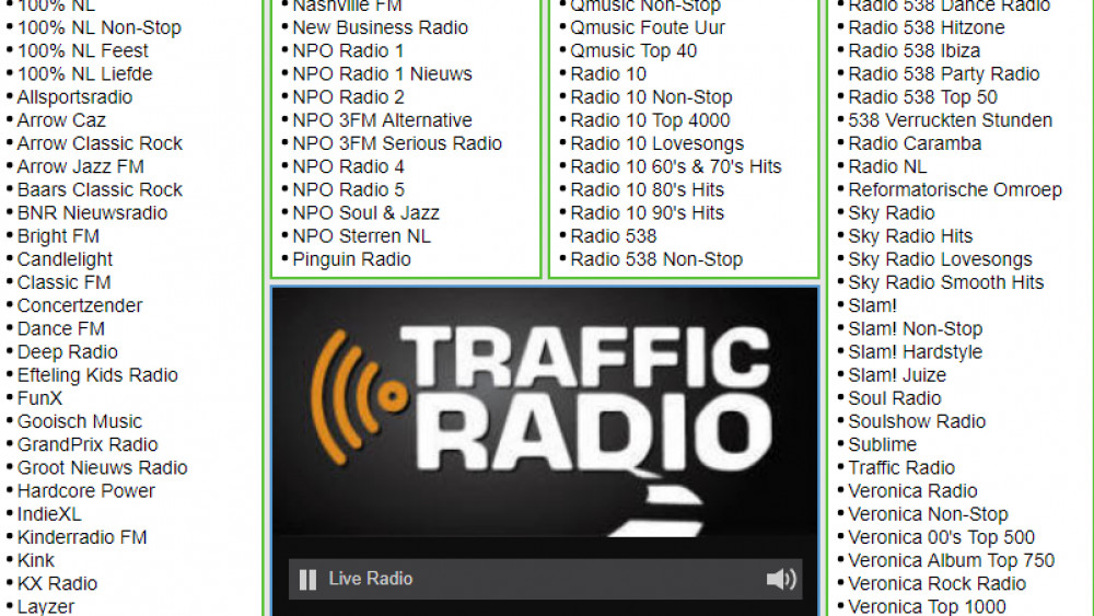 TR op Radio FM